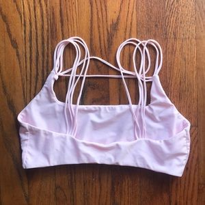Light pink MIKOH SWIMWEAR top